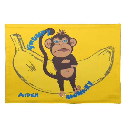 Grumpy Monkey Placemat
