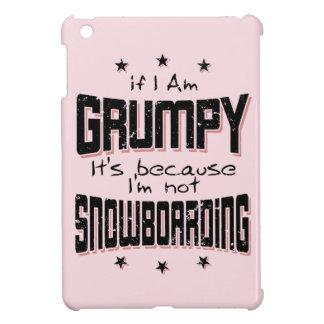 GRUMPY not SNOWBOARDING (blk) iPad Mini Cover