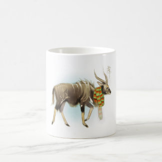 Grumpy Nyala with a scarf on! Coffee Mug