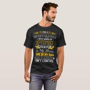 00b53817e Grumpy Old Man Born September With Heart On Sleeve T-Shirt