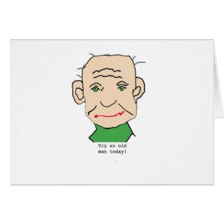 Grumpy Old Man Greeting Card