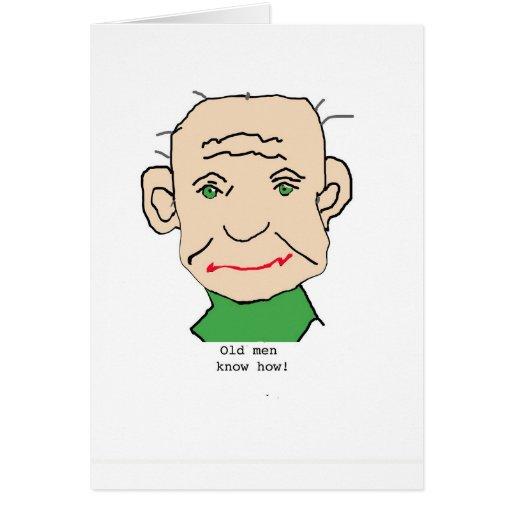 Grumpy Old Man Greeting Cards