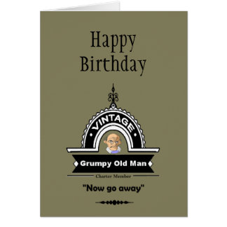 "Grumpy Old Man Club Fun ""Over the Hill"" Birthday Greeting Card"