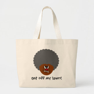 Grumpy Old Man: Hey, you kids get off my lawn! Jumbo Tote Bag