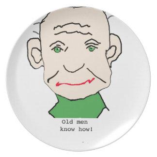Grumpy Old Man Dinner Plate