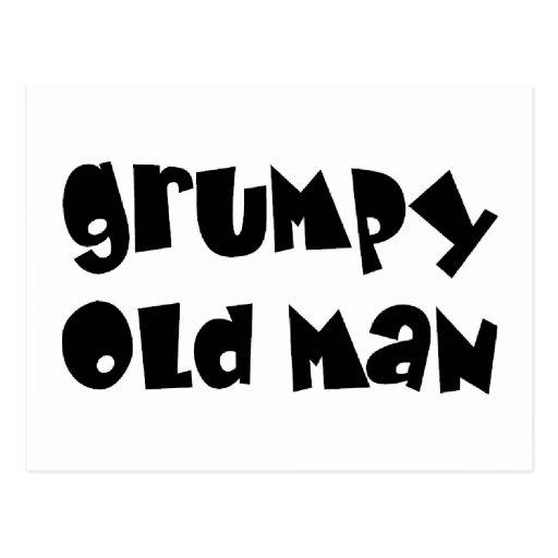 Grumpy old man postcard