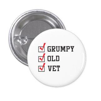 Grumpy Old Vet 3 Cm Round Badge