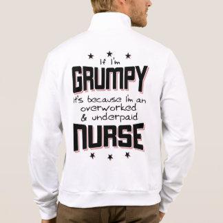 GRUMPY overworked underpaid NURSE (blk) Jacket