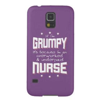 GRUMPY overworked underpaid NURSE (wht) Galaxy S5 Cases