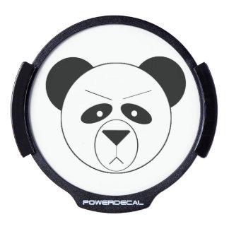 Grumpy Panda Window Decal LED Car Window Decal