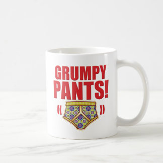 Grumpy Pants Flowery Coffee Mug