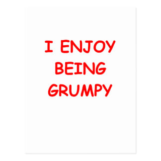 grumpy post cards