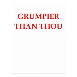 grumpy postcards
