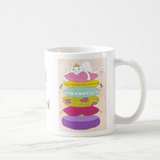 Grumpy princess cat and the pea cartoons coffee mug