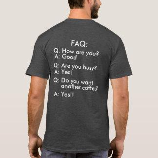 Grumpy Programmer FAQ Funny T-Shirt