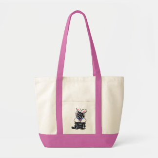 Grumpy Pug Bunny Tote Bags