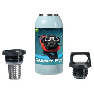Grumpy Pug Insulated Water Bottle
