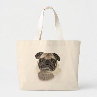 Grumpy Puggy Gifts Jumbo Tote Bag