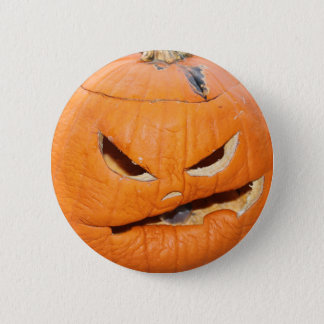 Grumpy Pumpkin 6 Cm Round Badge