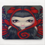 """Grumpy Red Fairy"" Mousepad"