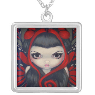 Grumpy Red Fairy NECKLACE gothic fantasy