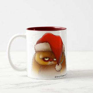 Grumpy Santa Cat mug