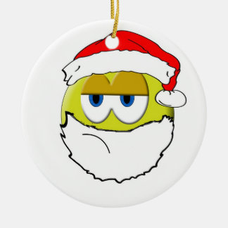 Grumpy Santa Christmas Ornament