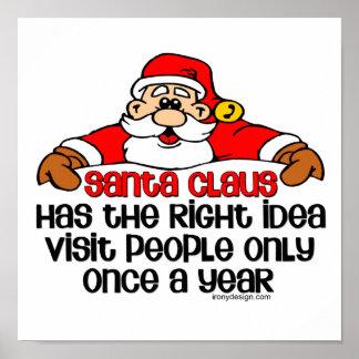 Grumpy Santa Claus Humor Poster