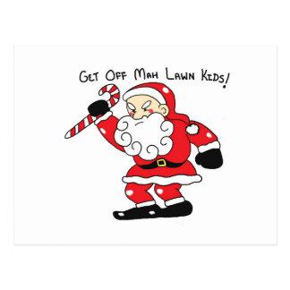 Grumpy Santa Postcards