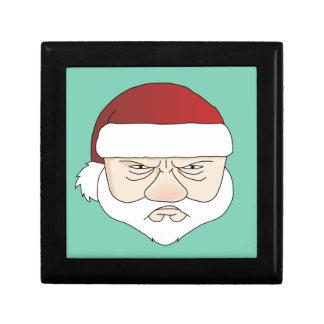 Grumpy Santa Small Square Gift Box