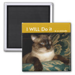 Grumpy Siamese Cat Fridge Magnet