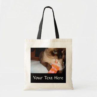 Grumpy Siamese Cat Tote Bag