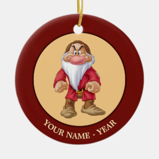 Grumpy | Standing Add Your Name Christmas Ornament
