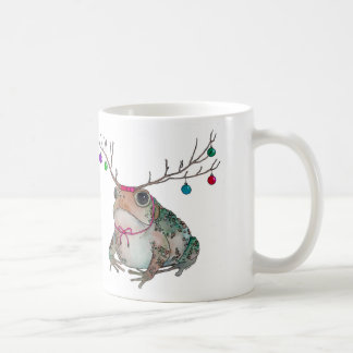 Grumpy Toad Enjoying the Holidays Coffee Mug