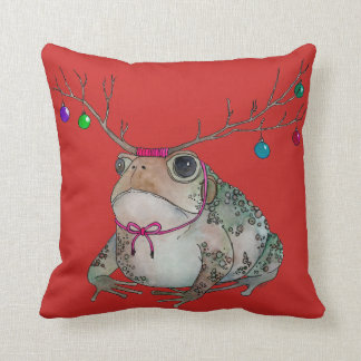 Grumpy Toad pillow to Lighten Up the Holidays