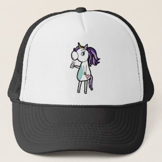 Grumpy Unicorn Trucker Hat