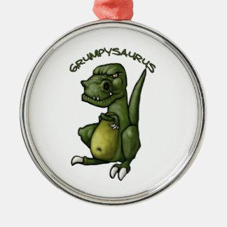 Grumpysaurus dinosaur being grumpy! christmas ornament