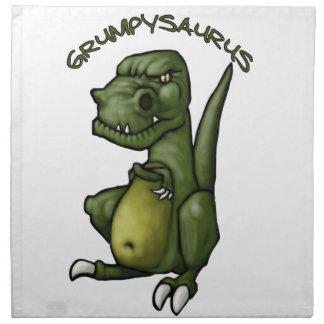 Grumpysaurus dinosaur being grumpy! napkin