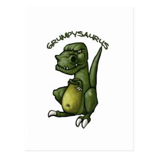 Grumpysaurus dinosaur being grumpy! postcard