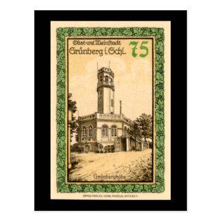 Grunberg 1921 75 Pfennig German Note Postcard