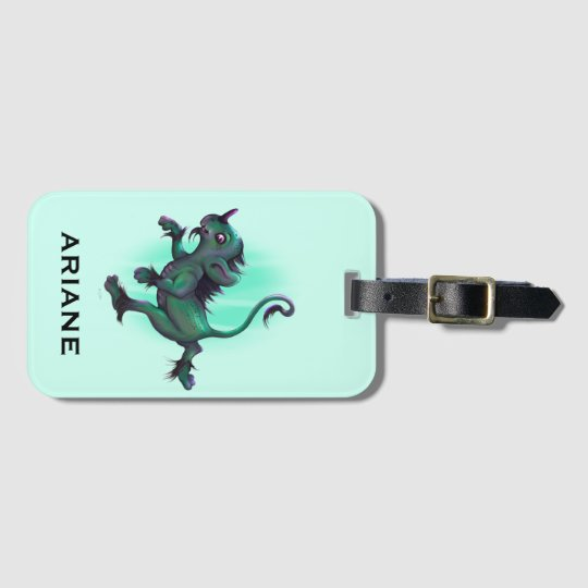 GRUNCH ALIEN CUTE LUGGAGE TAG  Luggage Tag with Bu