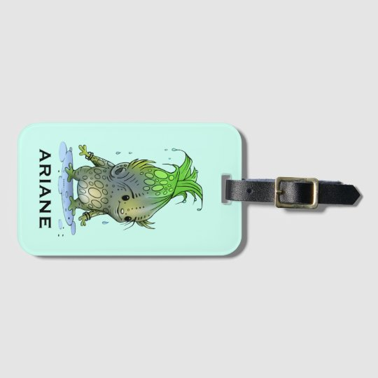 GRUNCH ALIEN CUTE LUGGAGE TAG Luggage Tag with Bus