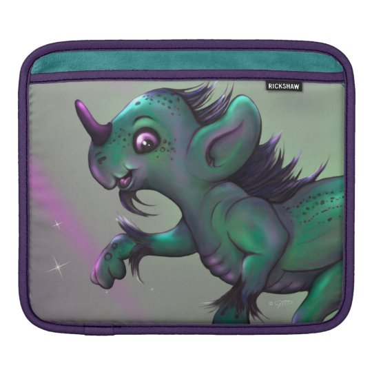 GRUNCH ALIEN MONSTER IPAD 2 HORIZONTAL iPad SLEEVE