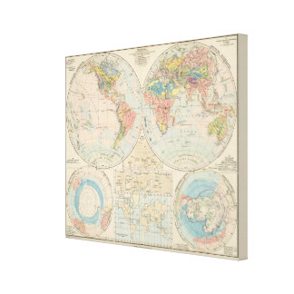 Grund u Boden - Soil Atlas Map Canvas Print