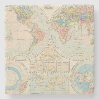 Grund u Boden - Soil Atlas Map Stone Beverage Coaster