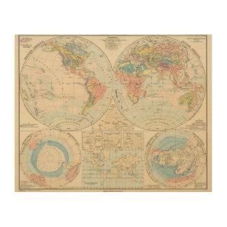 Grund u Boden - Soil Atlas Map Wood Wall Art