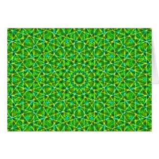 Grünes Netz Kaleidoscope/Green Kaleidoscope Net Greeting Card