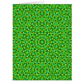 Grünes Netz Kaleidoscope/Green Kaleidoscope Net Large Greeting Card