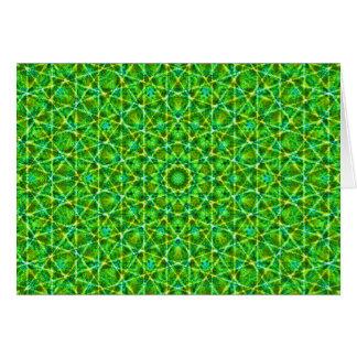 Grünes Netz Kaleidoscope/Green Kaleidoscope Net Note Card