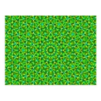 Grünes Netz Kaleidoscope/Green Kaleidoscope Net Postcard